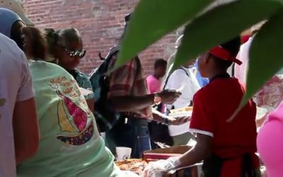 Cooking Out For The Homeless in Macon